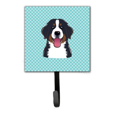 Checkerboard Bernese Mountain Dog Leash Holder and Wall Hook