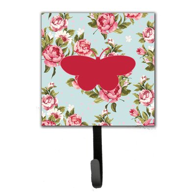 Butterfly Shabby Elegance Roses Leash Holder and Wall Hook