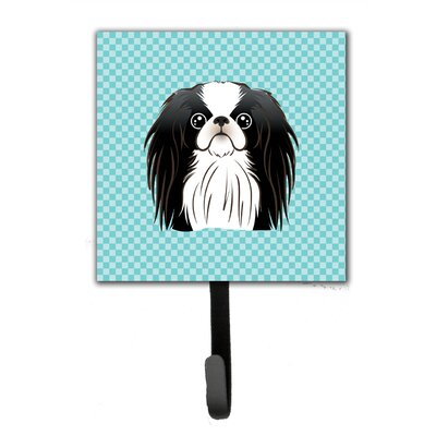 Checkerboard Japanese Chin Leash Holder and Wall Hook