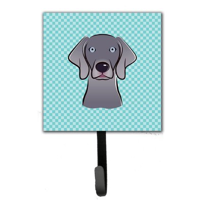 Checkerboard Weimaraner Leash Holder and Wall Hook