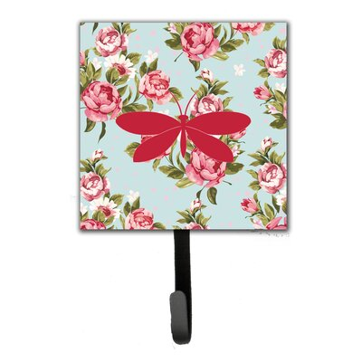 Moth Shabby Elegance Roses Leash Holder and Wall Hook