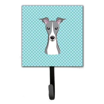 Checkerboard Italian Hound Leash Holder and Wall Hook