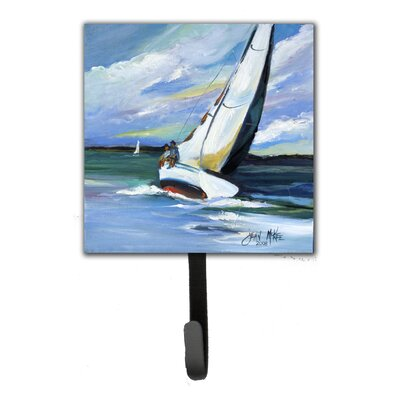 Two and a Sailboat Leash Holder and Wall Hook