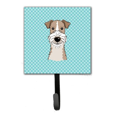 Checkerboard Wire Hai Fox Terrier Leash Holder and Wall Hook