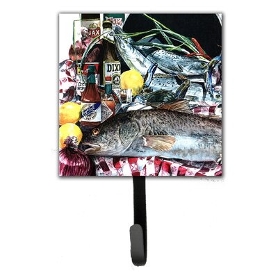 Fish and Beers From New Orleans Leash Holder and Wall Hook