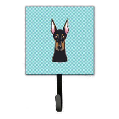 Checkerboard Doberman Leash Holder and Wall Hook