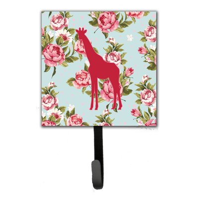 Giraffe Shabby Elegance Roses Leash Holder and Wall Hook