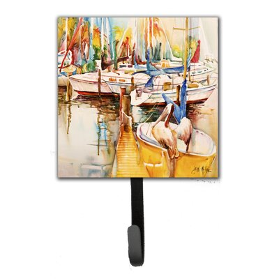 Pelicans and Sailboats Leash Holder and Wall Hook