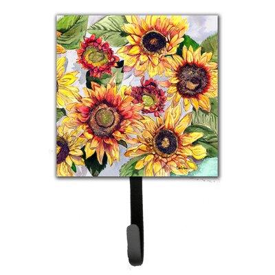 Sunflower Flower Leash Holder and Wall Hook
