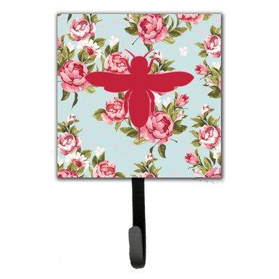 Bee Shabby Elegance Roses Wall Hook