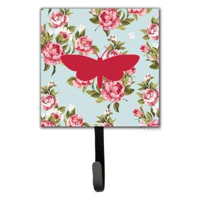 Moth Shabby Elegance Roses Wall Hook