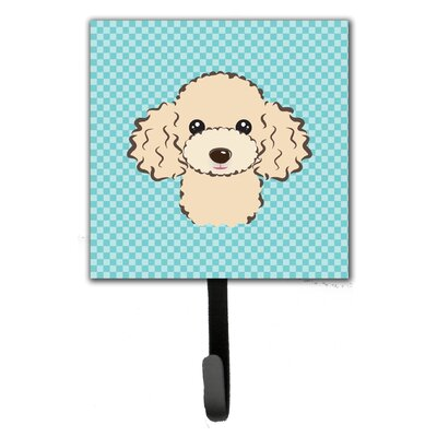 Checkerboard Buff Poodle Wall Hook
