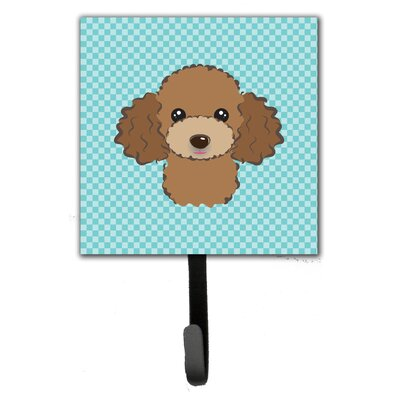 Checkerboard Poodle Wall Hook