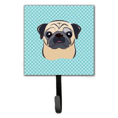 Checkerboard Fawn Pug Wall Hook