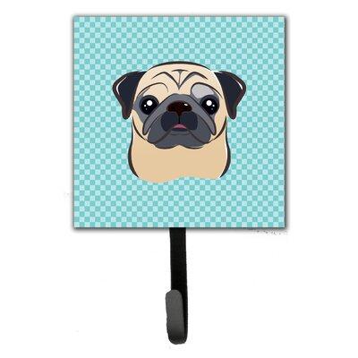 Checkerboard Fawn Pug Wall Hook