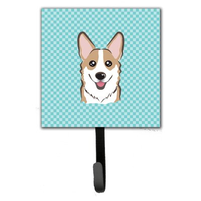 Checkerboard Corgi Wall Hook