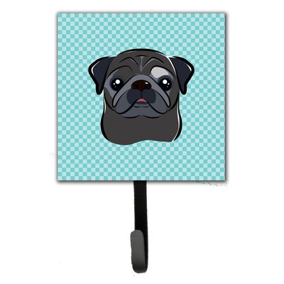 Checkerboard Pug Wall Hook