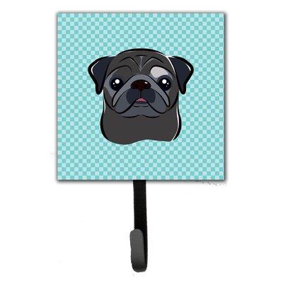 Checkerboard Pug Wall Hook