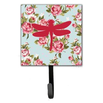 Dragonfly Shabby Elegance Roses Wall Hook