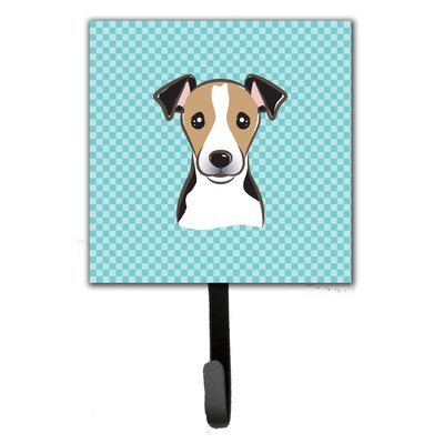 Checkerboard Jack Russell Terrier Wall Hook