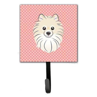 Checkerboard Pomeranian Wall Hook