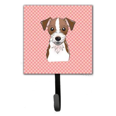 Checkerboard Jack Russell Terrier Wall Hook