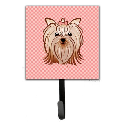 Checkerboard Yorkie Yorkshire Terrier Wall Hook