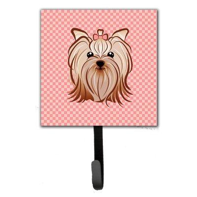 Checkerboard Yorkie Yorkshire Terrier Wall Hook