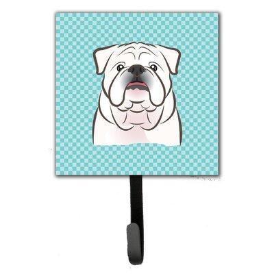 Checkerboard English Bulldog Leash Holder and Wall Hook