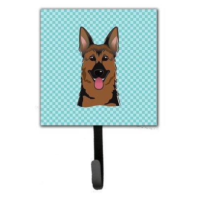 Checkerboard German Shepherd Leash Holder and Wall Hook
