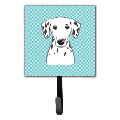 Checkerboard Dalmatian Leash Holder and Wall Hook