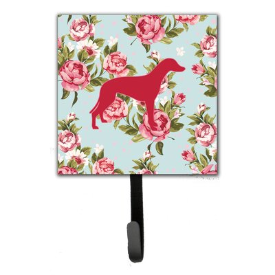 Greyhound Shabby Elegance Roses Leash Holder and Wall Hook