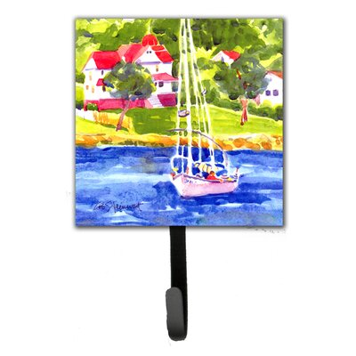 Sailboat on The Lake Leash Holder and Wall Hook