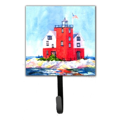 Lighthouse on The Rocks Harbour Leash Holder and Wall Hook