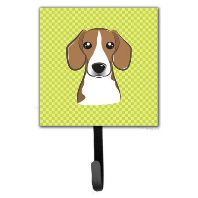 Checkerboard Beagle Leash Holder and Wall Hook