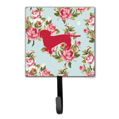 Dachshund Shabby Elegance Roses Leash Holder and Wall Hook