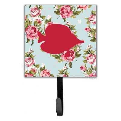 Tang Fish Shabby Elegance Roses Wall Hook