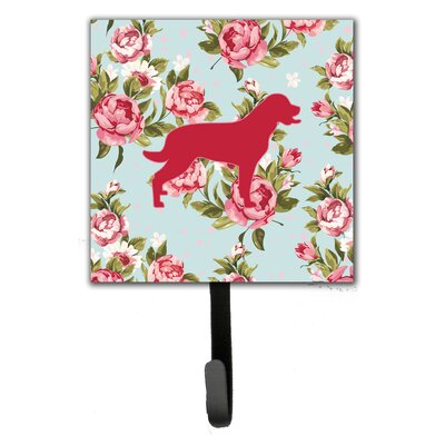 Labrador Shabby Elegance Roses Wall Hook