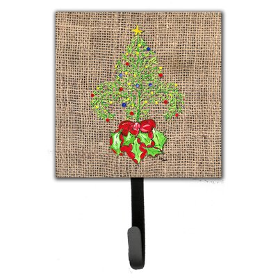 Christmas Tree Fleur De Lis Leash Holder and Wall Hook