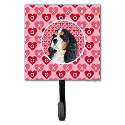 Cavalier Spaniel Valentine's Love and Hearts Leash Holder and Wall Hook