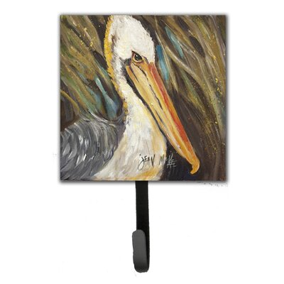 Pelican Looking West Leash Holder and Wall Hook
