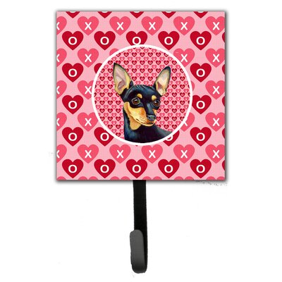 Min Pin Valentine's Love and Hearts Leash Holder and Wall Hook