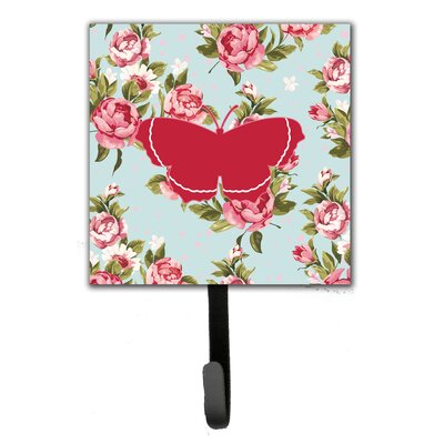 Butterfly Roses Leash Holder and Wall Hook