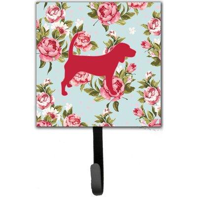 Beagle Shabby Elegance Roses Leash Holder and Wall Hook