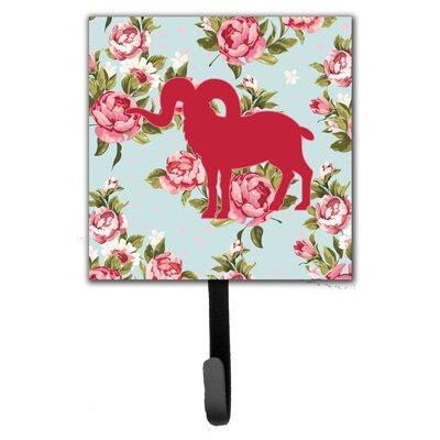 Sheep Shabby Elegance Roses Leash Holder and Wall Hook