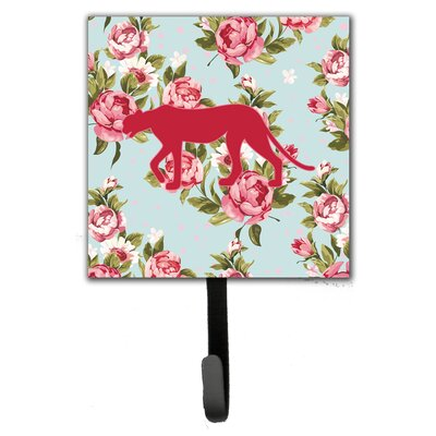 Leopard Shabby Elegance Roses Leash Holder and Wall Hook