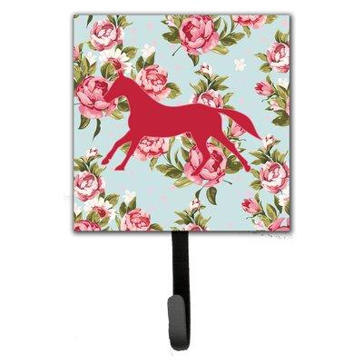 Horse Shabby Elegance Roses Leash Holder and Wall Hook