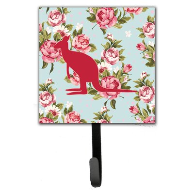 Kangaroo Shabby Elegance Roses Leash Holder and Wall Hook