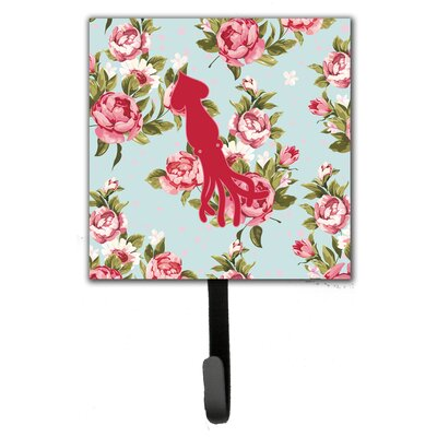 Squid Shabby Elegance Roses Leash Holder and Wall Hook