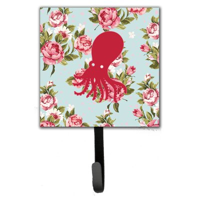Octopus Shabby Elegance Roses Leash Holder and Wall Hook